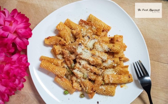 Easy Quarantine Date Recipe- Spicy Chicken Rigatoni
